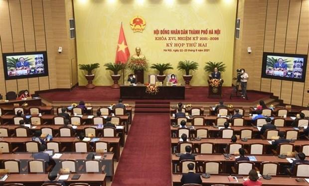 HDND thanh pho Ha Noi thong qua 17 nghi quyet phat trien Thu do hinh anh 1
