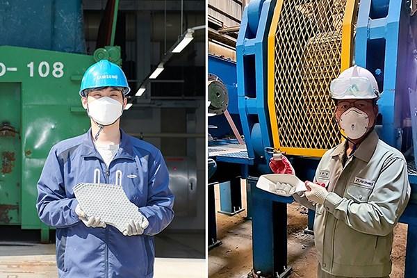 Samsung, Hyundai Steel phat trien cong nghe moi tai su dung bun thai hinh anh 1
