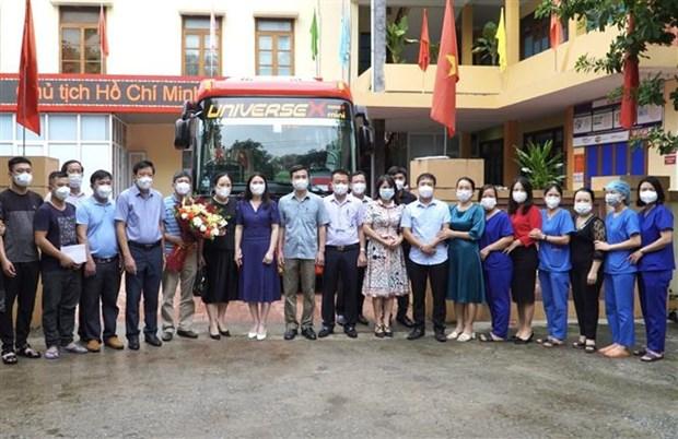 Quang Binh cu can bo sang giup tinh Khammouane cua Lao chong dich hinh anh 1
