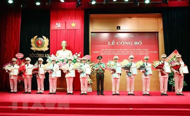 Ra mat Trung doan Khong quan Cong an nhan dan tai Ha Noi hinh anh 1