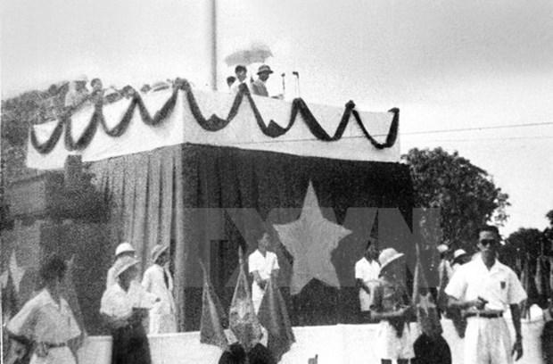 [Video] Chu tich Ho Chi Minh doc Tuyen ngon Doc lap nam 1945 hinh anh 1