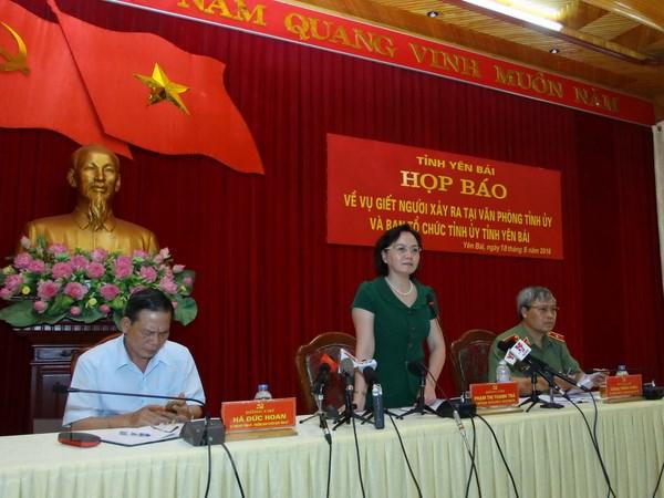 [Video] Hop bao thong tin ve vu sat hai lanh dao cao cap tinh Yen Bai hinh anh 1