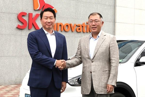 Hyundai va SK Innovation hop tac san xuat pin oto dien hinh anh 1