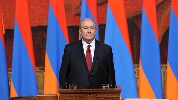Tong thong Armenia keu goi bau cu Quoc hoi som hinh anh 1
