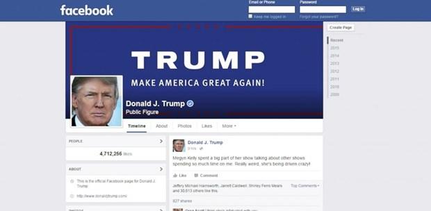 Facebook tiep tuc khoa tai khoan cua cuu Tong thong My Donald Trump hinh anh 1