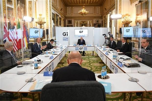 Hoi nghi Ngoai truong G7: Hoi dam 3 ben My-Nhat-Han hinh anh 1