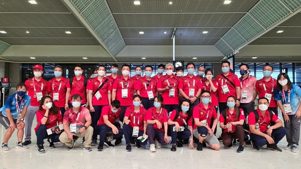 Olympic Tokyo 2020: Doan the thao Viet Nam tro ve nuoc hinh anh 1