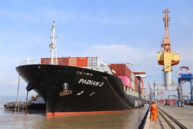 Cang Hai Phong don thanh cong ba tau container cua Hang Maersk Line hinh anh 1