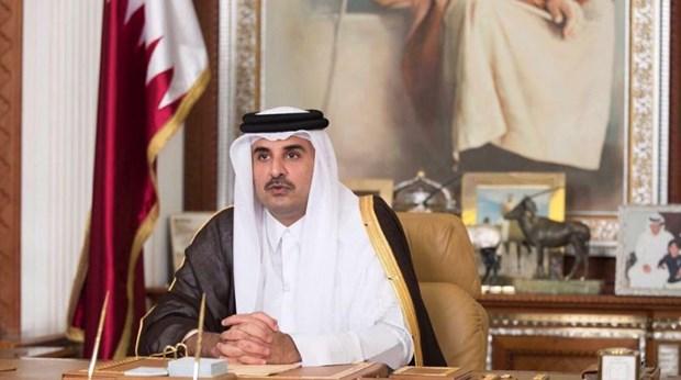 Quoc vuong Qatar bat dau chuyen tham chinh thuc Saudi Arabia hinh anh 1