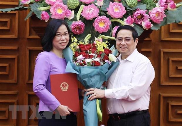 Thu tuong trao Quyet dinh bo nhiem Tong Giam doc Thong tan xa Viet Nam hinh anh 1