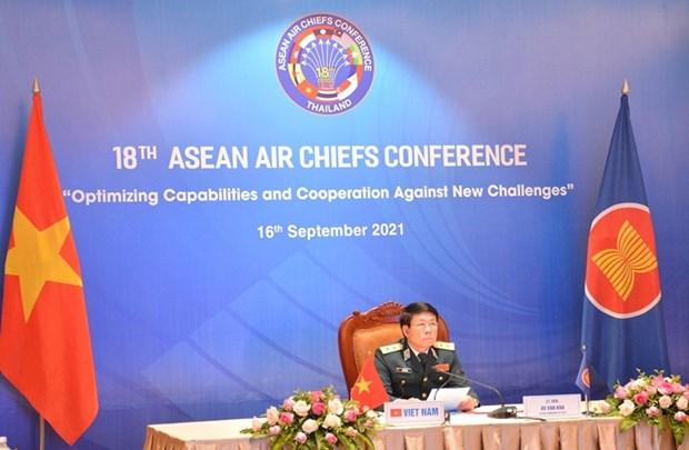 AACC-18: Khong quan ASEAN tang cuong hop tac vi an ninh khu vuc hinh anh 1