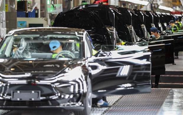 Nha may Tesla o Thuong Hai san xuat 300.000 xe trong 9 thang hinh anh 1