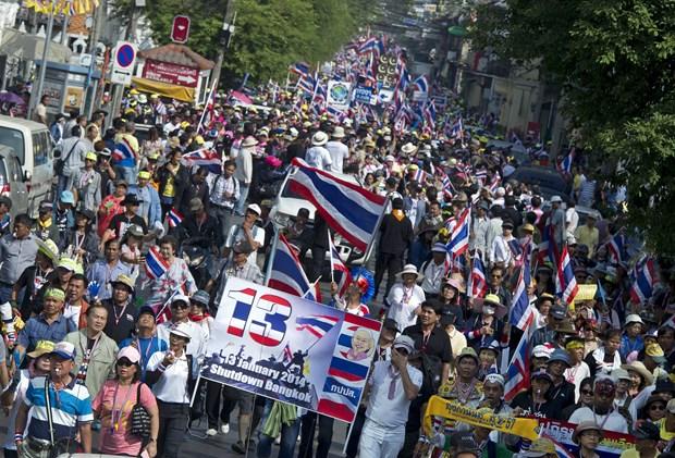Thai Lan: No sung tai diem bieu tinh, 7 nguoi bi thuong hinh anh 1