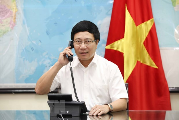 Pho Thu tuong Pham Binh Minh dien dam voi Ngoai truong Phap hinh anh 1