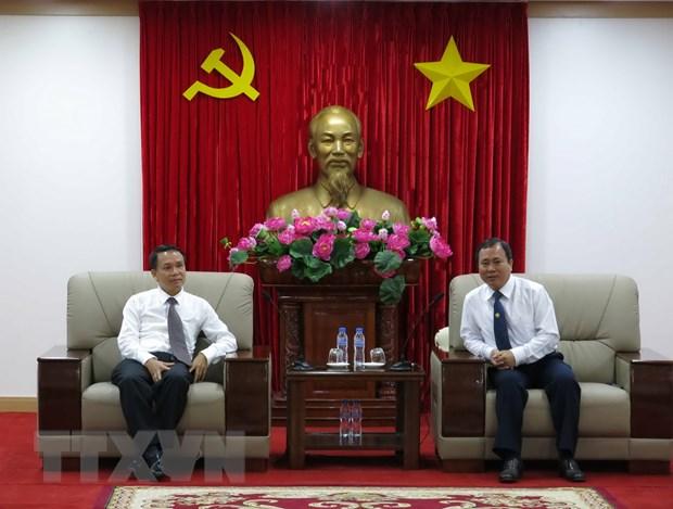 Tong Giam doc TTXVN den tham va lam viec tai tinh Binh Duong hinh anh 1
