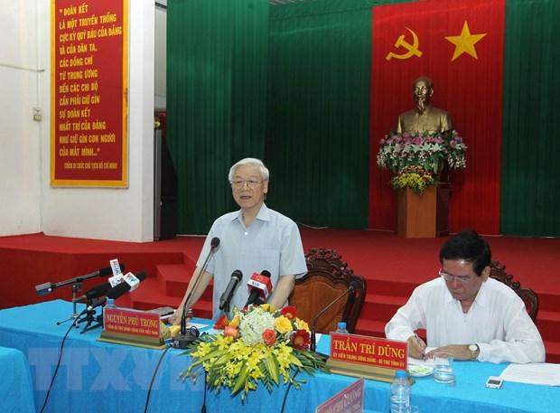 Tong Bi thu Nguyen Phu Trong tham, lam viec tai Tra Vinh hinh anh 1