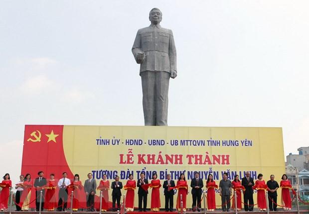 Hung Yen khanh thanh tuong dai Tong Bi thu Nguyen Van Linh hinh anh 1