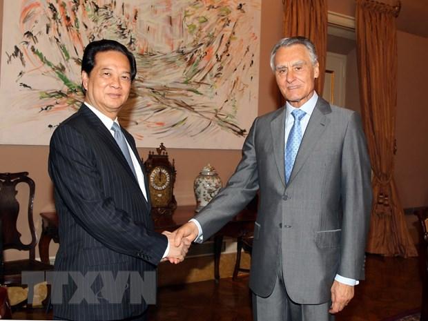 Thu tuong Nguyen Tan Dung hoi kien Tong thong Bo Dao Nha hinh anh 1