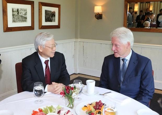 Tong Bi thu tham gia dinh cuu Tong thong Hoa Ky Bill Clinton hinh anh 1