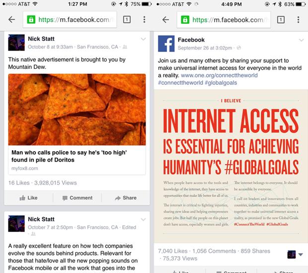 Facebook va lo hong cho phep xem luot doc bai viet tren News Feed hinh anh 2