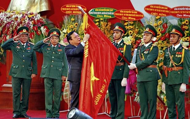 Quan khu 7 don nhan Huan chuong Quan cong hang Nhat hinh anh 1