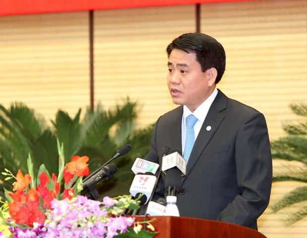 Tan Chu tich Ha Noi Nguyen Duc Chung tra loi phong van TTXVN hinh anh 1