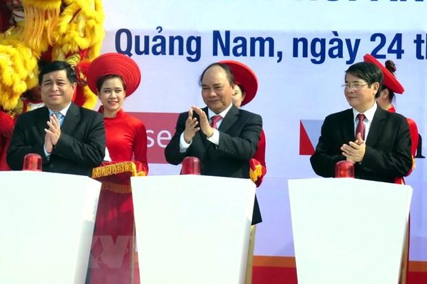 Phat lenh khoi cong mot so du an trong diem o Quang Nam hinh anh 1
