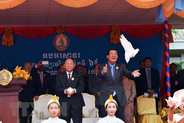 Campuchia: Dang CPP cam quyen ky niem 65 nam ngay thanh lap hinh anh 1