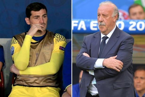 Huan luyen vien Vicente del Bosque va Casillas dan hoa hinh anh 1