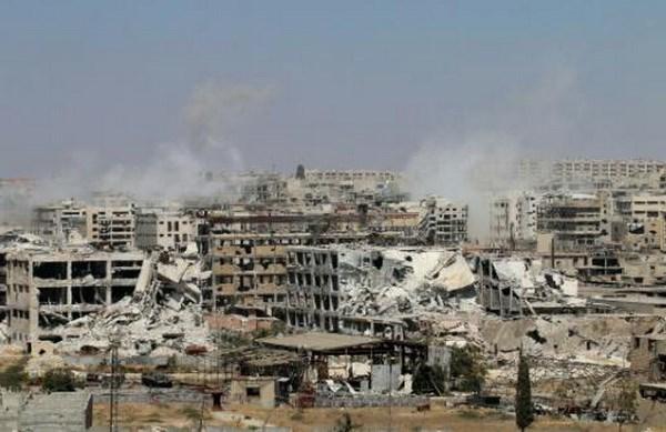 Phien quan bat dau ra hang quan doi Syria tai thanh pho Aleppo hinh anh 1
