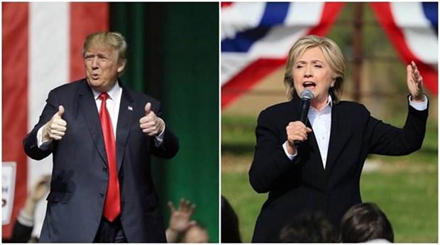 Ba Clinton va ong Trump tranh cai ve van de thue va an ninh quoc gia hinh anh 1