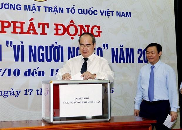 Chinh thuc phat dong thang cao diem ''Vi nguoi ngheo'' nam 2016 hinh anh 2