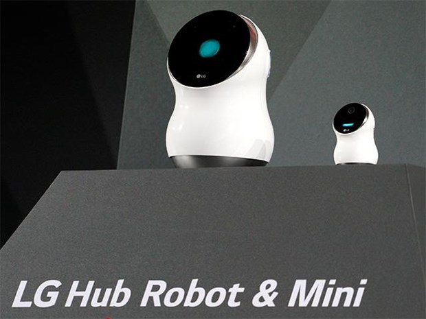 LG Hub Robot - doi thu dang gom cua Amazon Echo va Google Home hinh anh 1