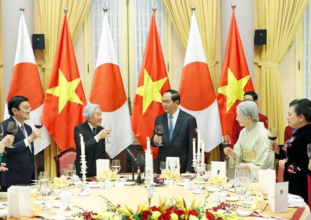 Quoc yen chao mung Nha vua Nhat Ban Akihito va Hoang hau hinh anh 1