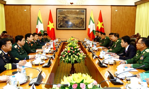 Thuc day hop tac quoc phong giua hai nuoc Viet Nam-Myanmar hinh anh 2