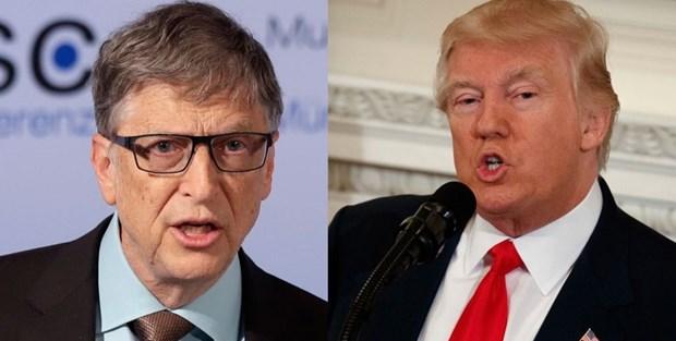 Bill Gates van la nguoi giau nhat the gioi, vi tri cua Trump giam manh hinh anh 1