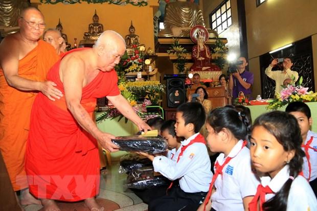 Cong dong nguoi Viet tuong niem danh tang Thich Trung Quan tai Lao hinh anh 1