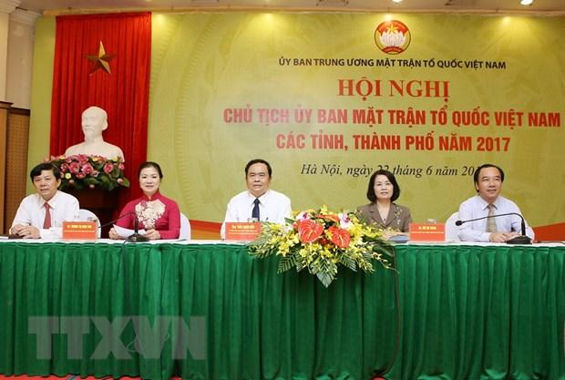 Hoi nghi Chu tich Uy ban Mat tran To quoc Viet Nam cac tinh, thanh pho hinh anh 1
