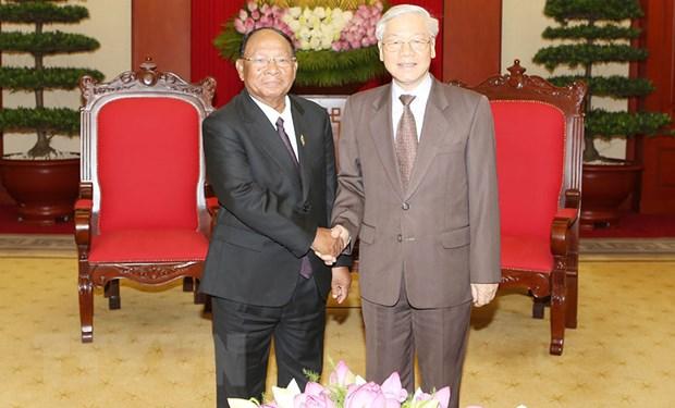 Tong Bi thu: Viet Nam luon dac biet coi trong quan he voi Campuchia hinh anh 1