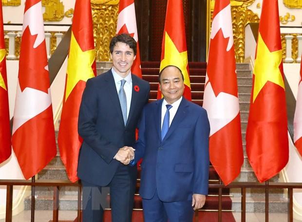 Lanh dao Viet Nam-Canada nhat tri xac lap quan he Doi tac toan dien hinh anh 3