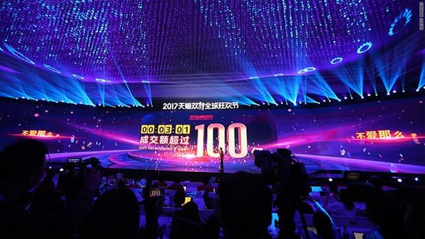 Doanh thu cua Alibaba trong Singles Day dat 1 ty USD chi trong 2 phut hinh anh 1