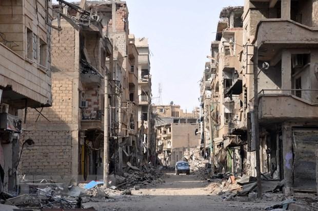 To chuc khung bo IS tai chiem gan nua thanh pho Albu Kamal cua Syria hinh anh 1