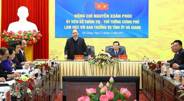 Thu tuong Nguyen Xuan Phuc: Ha Giang can tai co cau manh me hinh anh 1