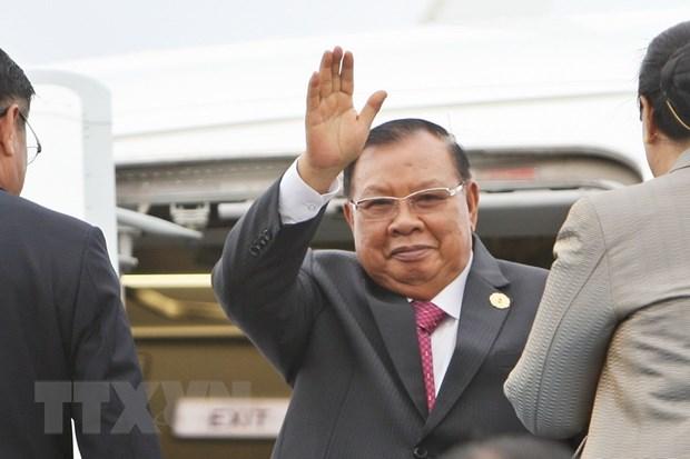 Tong Bi thu, Chu tich nuoc Lao tham huu nghi chinh thuc Viet Nam hinh anh 1