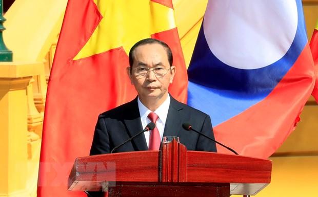 Phat bieu cua Chu tich nuoc be mac Nam Doan ket Huu nghi Viet-Lao hinh anh 1