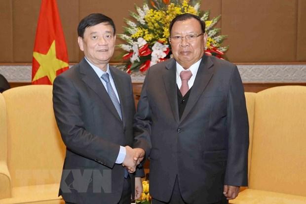 Tong Bi thu Lao tiep doan dai bieu Hoi Huu nghi Viet Nam-Lao hinh anh 1