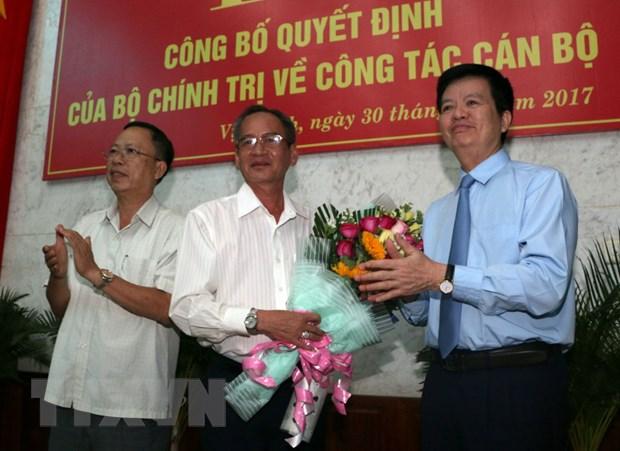 Ong Lu Van Hung thay ong Tran Cong Chanh lam Bi thu Tinh uy Hau Giang hinh anh 1