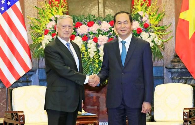 Chu tich nuoc: De nghi Hoa Ky chuyen giao tau tuan tra trong nam 2019 hinh anh 1