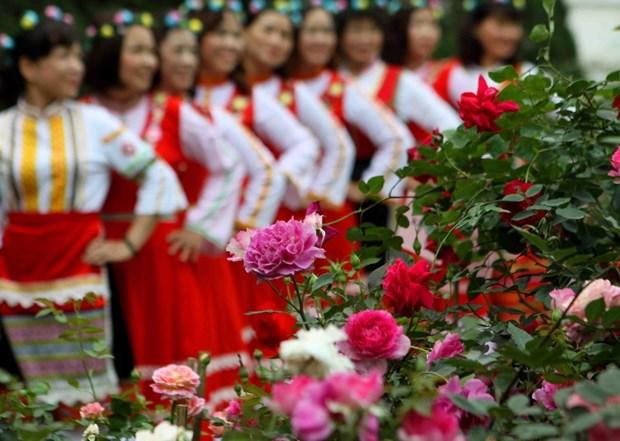 Hang nghin nguoi tham du Ngay hoi hoa hong Bulgaria va ban be hinh anh 1