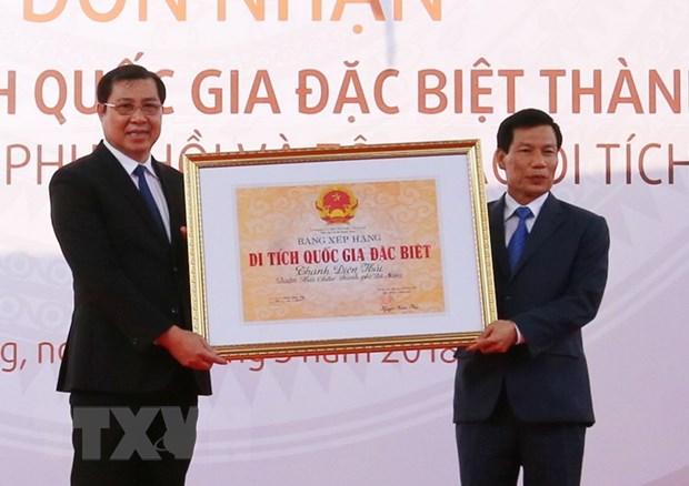 Da Nang don nhan bang di tich quoc gia dac biet Thanh Dien Hai hinh anh 2